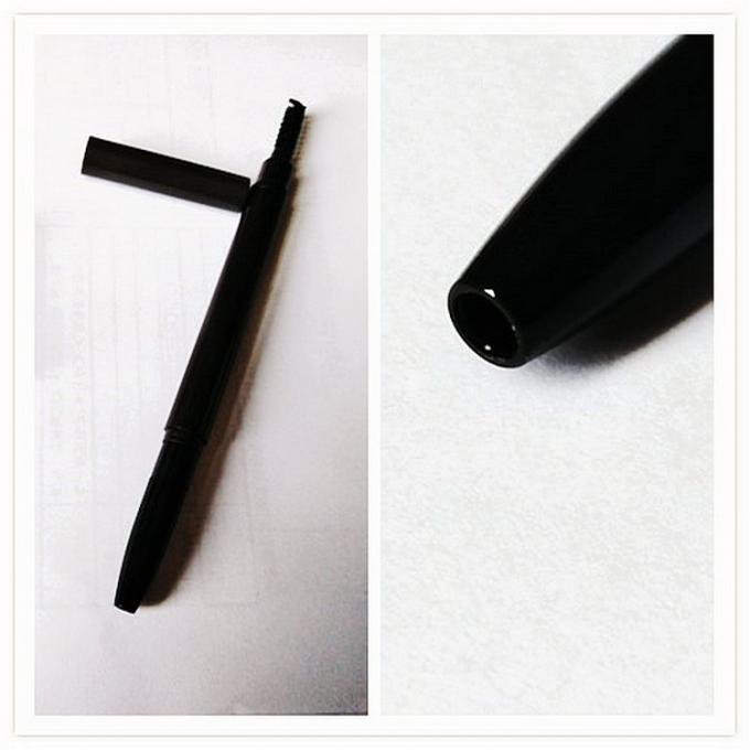 ABS Plastic Black Auto Eyebrow Pencil Double End No Leakage 140mm Long