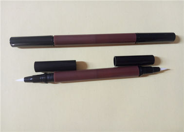 Logo Printing Waterproof Liquid Eyeliner Pen , ABS Double Sided Eyeliner